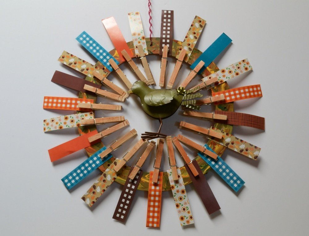 Final Clothespin Wreath Project