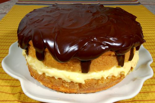 Mother's Day Boston Cream Pie