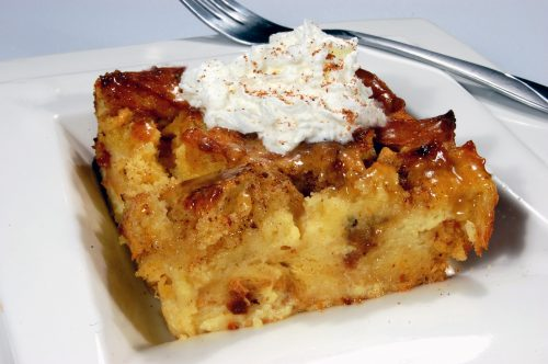 Blender Bread Pudding with Brandy Sauce