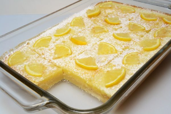 Lemon Bars in Baking dish