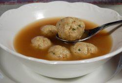 Turkey Broth with Turkey Meatballs