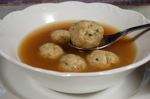 Turkey Broth with Turkey Meatballs