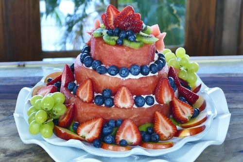 Naked Watermelon Cake