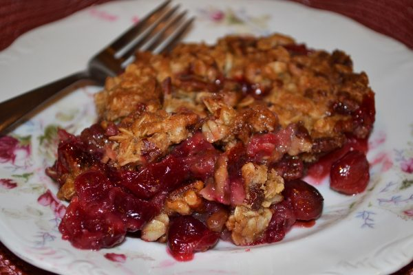Plated Apple Cranberry Crunch