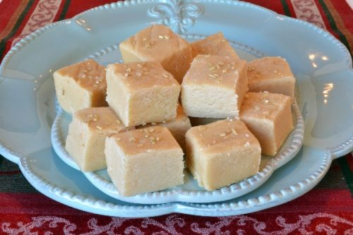 Leftover Eggnog Fudge