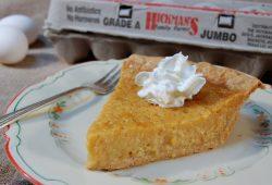 Pumpkin Pie With Dollop of cream