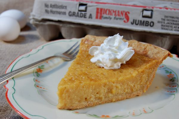 Pumpkin Pie With Dollop of cream