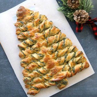 Christmas Tree Pull-Apart Appetizer