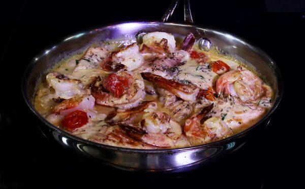 Tuscan Butter Salmon Skillet