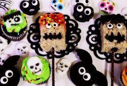 spooky rice krispy treats