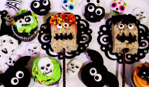 spooky rice krispy treats