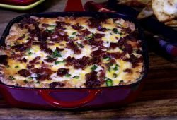 Buffalo Chile Dip in Skillet