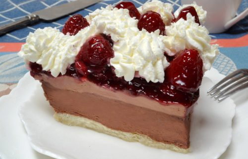 Piece of Chocolate Raspberry Pie