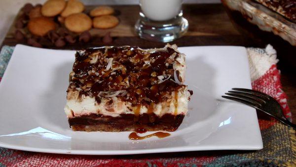 Gimme Samoa Dessert Lasagne