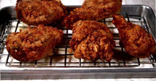 best fried chicken on a rack