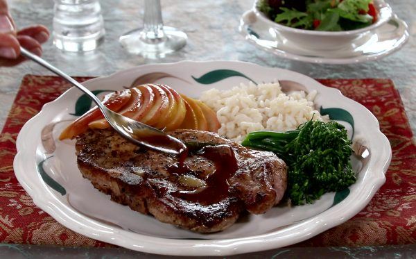 pork chops with butter sage glaze