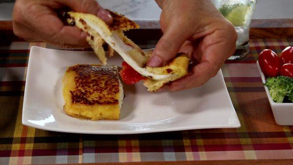Egg Battered Grilled Sandwiches