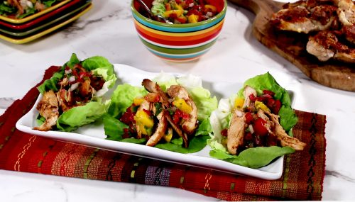 Southwest Chicken Salsa Lettuce Wraps