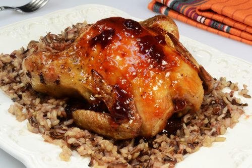 Rock Cornish Game Hens with Glaze