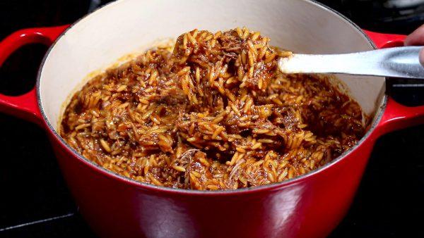 Greek Stew in a red pot