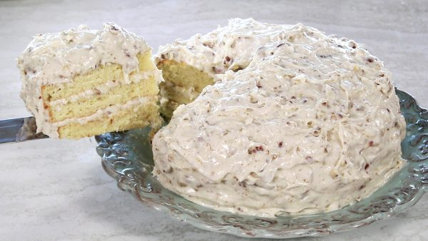 Italian Cream Cake on a plate