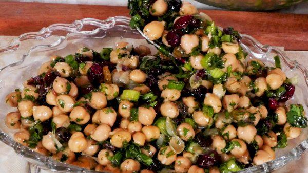 Chick Pea and Raisin Salad